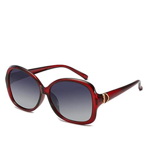 PROMISE-YZ Sonnenbrille Polarisierte sonnenbrille 100% UV 400-Schutz Modetrend-Strandsonnenbrillereise, die Damen färbt Retro- Gläser fährt