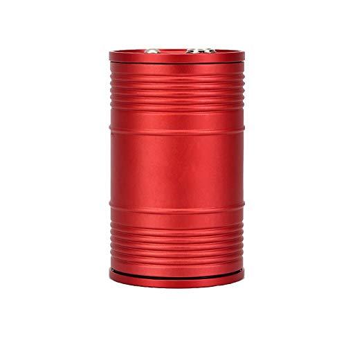 TAO Auto Auto Aschenbecher Multifunktions Mit Abdeckung Universal Kreative Metall Aschenbecher Trend Einfach Und Elegant Aschenbecher 9,5X6 cm (Farbe : Rot) Vintage Barware