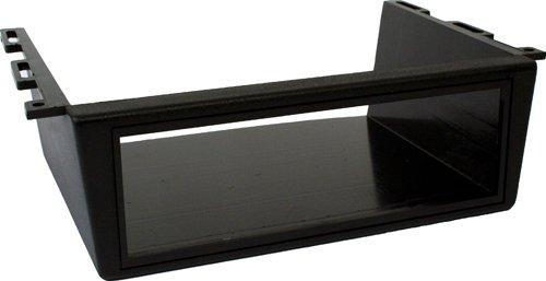 Autoleads FP-010 Autoradioblende für die Anbringung unter dem Armaturenbrett, 1 DIN, ISO-Unterstützung, Schwarz -