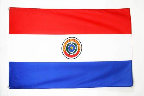 BANDERA de PARAGUAY 150x90cm - BANDERA PARAGUAYA 90 x 150 cm poliéster ligero - AZ FLAG