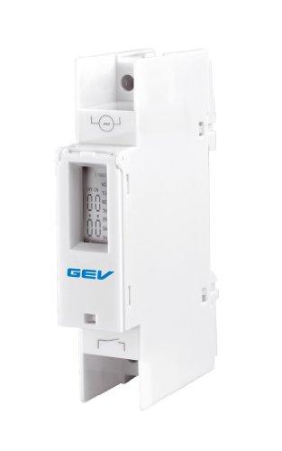 GEV LZV 6287 Digitale Zeitschaltuhr für Verteilereinbau