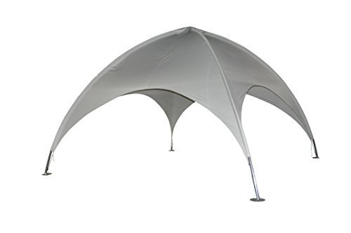 Leco Kuppelzelt, Lichtgrau, 500 x 500 cm Höhe 350 cm Rohr: ca. Ø 50 mm, 1 mm stark