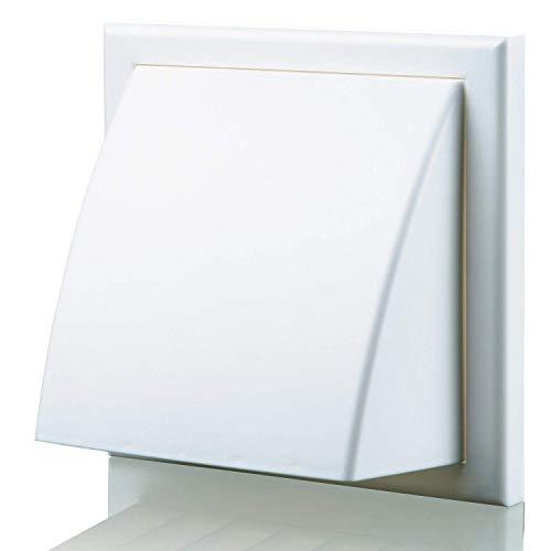 Blauberg UK Decor 185x 185/125hk weiß 125mm 12,7cm rund Kunststoff und für Abluftventilator Ventilation-Weiß -