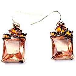 The Cats Pajama Amber Sunset Drop Earrings for Girls and Women