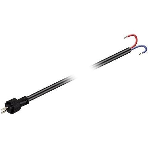 Parlat - Cable de alimentación para sistema de conexión LED de 12 V (IP44, 1 m, uso exterior)
