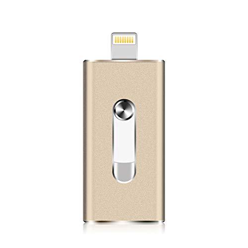 Lirong mini chiavetta usb portatile flash usb memory stick da 256 gb drive flash 3.0 compatibile con iphone/ipad/pc/android,gold