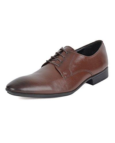 Ziraffe BOGOTA Genuine Leather Brown Men's Formal Shoes (10 UK)