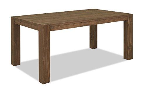 Esstisch Rio Bonito 140x90cm, Pinie Massivholztisch für Esszimmer Wohnzimmer Küche und Büro, geölt und gewachst, Farbton Cognac braun, Optional: passende Bänke und Ansteckplatten 50x90cm