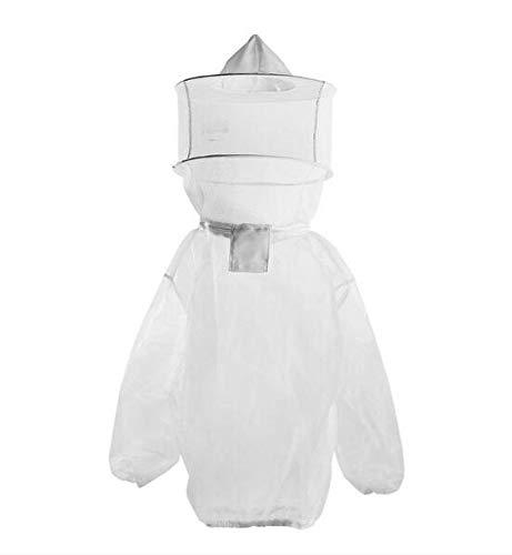 MICHEN Atmungsaktive Nylon-Imkerkleidung Anti-Bienen-Körperschutzmantel Schleier Kapuze Hut Anzug Ärmel Kopf Imkerei Komfort verhindern -