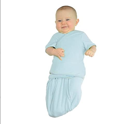 TrueWomb Weaning Swaddle (Small (6.5-13 lbs), Blue)