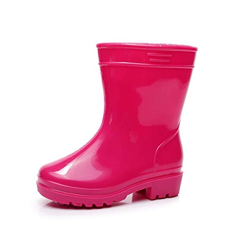 XSYYQYLL Kids Boys Girls Rain Boots Pure Candy Color Designer Waterproof Rubber Skid-Proof Infant Toddler Children Slip-on Rainboots