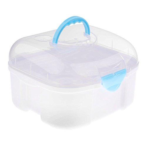 Homyl Babyflaschen Aufbewahrung für Flaschen und Flaschenzubehör mit Trockenständer Abtropfgestelle Flaschenkiste - Blau