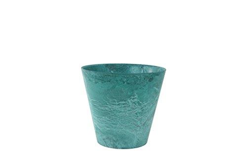 Artstone Pflanzgefäß, Pflanzkübel Claire, frostbeständig und leichtgewichtig, azure, 22x22x20 cm, 136235
