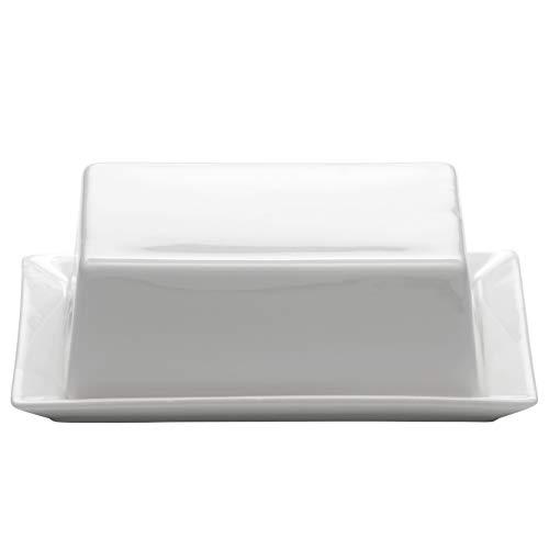 Maxwell & Williams Kitchen Butterdose, Porzellan, Weiß, 16x13x5