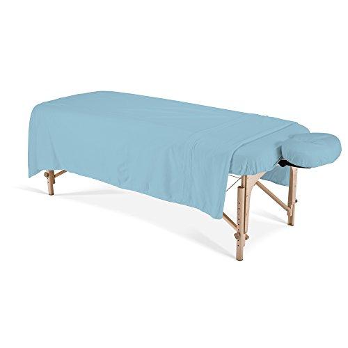 EARTHLITE Massagetisch Bezug Set Flanell (3-teilig) - Knitterfrei & Warm, Laken, Decke & Kopfstützbezug für Massageliegen (Massagetische Earthlite)