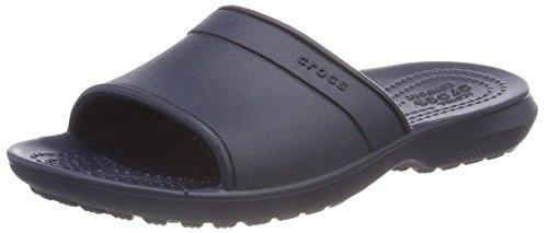 Crocs classic slide, sandali a punta aperta unisex-bambini, blu (navy), 36/37 eu