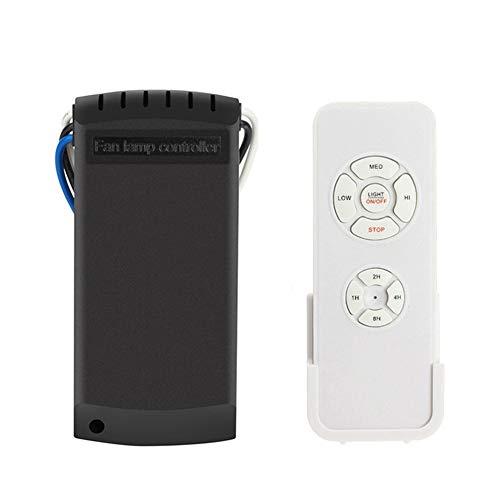 Hihey Universal Fan Light Remote Schalter für Deckenventilator Lampengeschwindigkeit Kabellos Fernbedienung Speed Controller -
