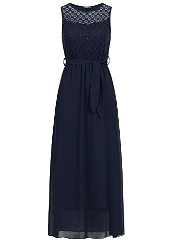 on sale fa359 b9ae5 Violet Fashion Damen Kleid lang Chiffonstoff doppellagig ...