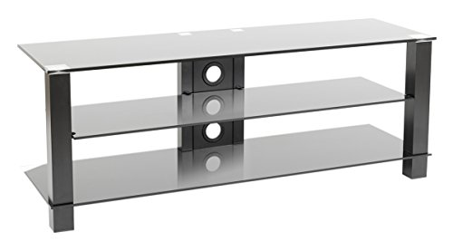 Erard 35265 Cub 1300 Meuble Ouvert 3 Plateaux Aluminium Noir 130 x 40 x 48 cm