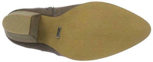 Buffalo B132F-45 P2066C PU Damen Kurzschaft Stiefel Grau (Taupe 01)