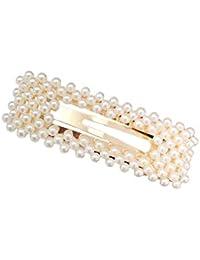 Eudola Perla Horquilla Elegante Horquilla Moda Pinza de Pelo Clips Pelo  Perla Joyería Accesorios para el de3789866f4d