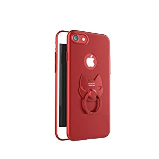 nicButy Cat Anello Apple Phone Holder Creative Mobile Phone Case Accessories Staffa (iPhone X) 1 Piece Electronic Accessories