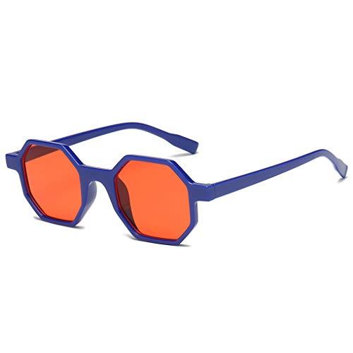 Providethebest Männer Frauen Polygonal Sonnenbrille Unisex Kleines Octagon Sonnenbrillen UV-Schutz im Freien Sportbrille