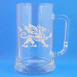1 vaso de cerveza jarra con diseño del Dragón Galés