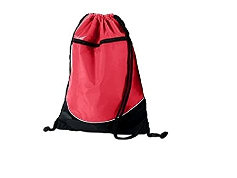 Tri-Color Drawstring BackPack (Red/Black/White (Shown)) by Augusta