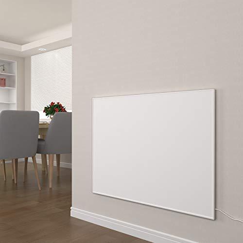 Infrarotheizung mit Thermostat 300, 450, 580, 700, 900, 1100 Watt Weiß Carbon Crystal Paneelheizung - Überhitzungsschutz Wandheizung Design Infrarot Heizung (1100W + Thermostat)