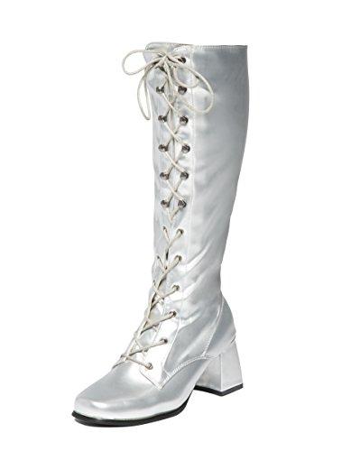 Ktc, Damen Stiefel & Stiefeletten  silber silber, silber - silber - Größe: 37.5