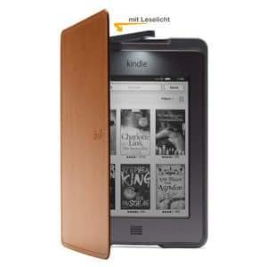 Amazon Kindle Touch Lederhülle mit Leseleuchte, Hellbraun (nur geeignet für Kindle Touch)