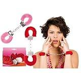 PARTY DISCOUNT  Handschellen mit Plüsch, rot und pink sort