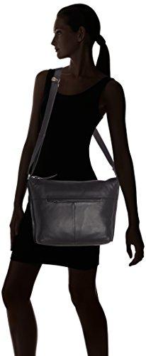 Bree Collection - Toulouse 2, Black Smooth, Cross Sh. M, Borsa A Tracolla da donna Nero (black smooth 909)