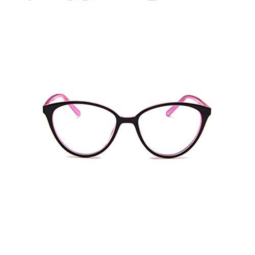 REALIKE Unisex Brille Elegant Flacher Spiegel Runder Rahmen Brillengestell Brille Anti-Blaulichtbrille, Leopardenmuster-Brillengestell Aus, (Farbe : Mehrfache) (Snowboard-brillen Blaue)