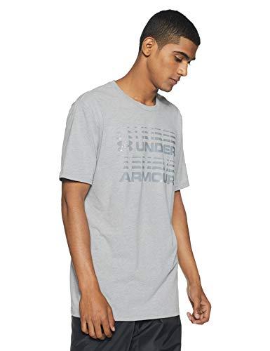 Under Armour Men's Plain Loose Fit T-Shirt (1318554-035_Steel Light Heather_Large)