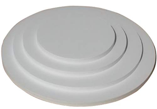 Cake Board 4er Set rund 15/20/25/30cm mit 12 Tortenstützen für mehrstöckige Torten. Leicht und stabil. Stärke 10mm. Cake Board