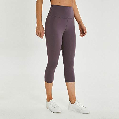 SKFLER Yogahosen Sport Fitness Hosen Damen Soft Nylon Fitness Yoga Short Pants, Roland Grey, XXS