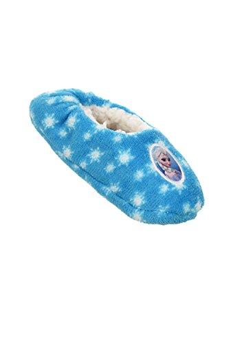 Disney Die Eiskönigin Pantoffeln Elsa mit Antirutschnoppen Hellblau