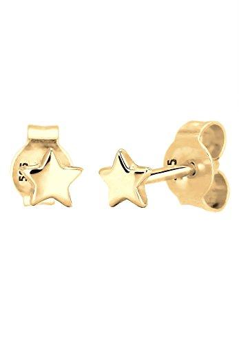 Elli Damen-Ohrstecker Sterne Stern Astro Trend Star Sternzeichen 585 gelbgold