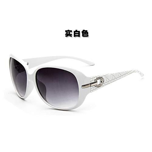 WDDYYBF Sonnenbrillen, Elegant Oal Sonnenbrille Frauen Fgrayion Gradient Gläser Retro Farbtöne Für Frauen U 400 Trendy Sonnenbrille Echten Weißen