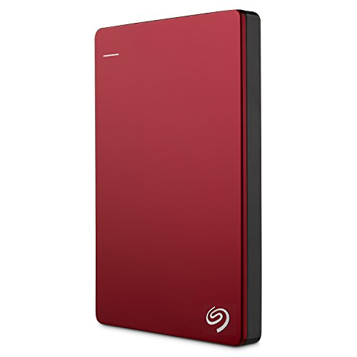 Seagate Backup Plus Slim - Disco duro externo portátil de 2.5' para PC y Mac (2 TB, USB 3.0) Rojo