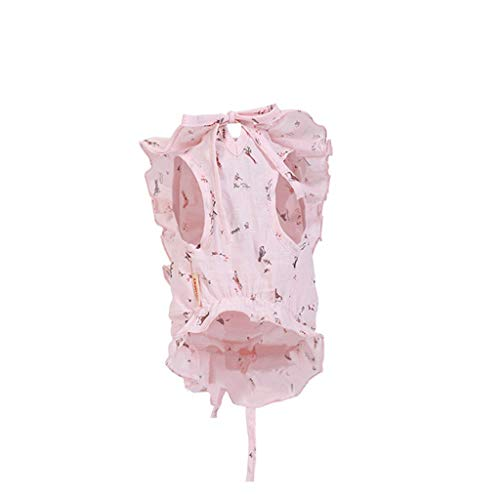 QLMS Puppy Dog Kleidung Teddy Bear Xiong Bomei Sommer dünne Hund Welpen Haustier Sommer Sommer Prinzessin Rock (Color : Pink, Size : L)