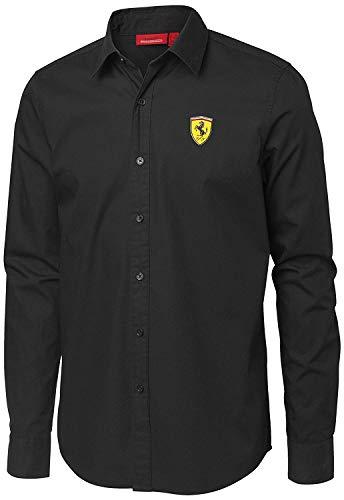 Scuderia Ferrari Herren Freizeit-Hemd, Schwarz Medium