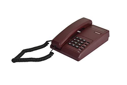 Beetel B11 Basic Corded Phone (Dark Red)