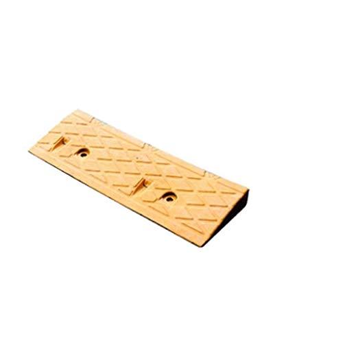 Gute Qualität Gelbe Gummipiste Pad, Home Türschwelle Schritt Pad Indoor Skateboard Fahrrad bergauf Pad 50 * 17 * 4,5 CM praktisch (Color : Yellow, Size : 50 * 17 * 4.5CM)