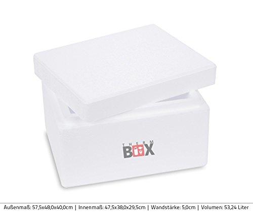 Profibox S 31,0x25,0x18,5cm, Wand: 3,0cm, V=5,93 Liter, Styroporbox Weiß Isolierbox Thermobox Kühlbox Warmhaltebox klein