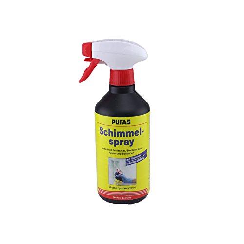 Pufas Werk KG 5402000 Schimmelspray 0,5 Liter Antischimmelspray zum schnellen und gründlichen Entfernen von Schimmel, Grünbelägen, Stockflecken, Bakterien und Algen, Neutral