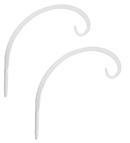 Graybunny forgé à la main courbée vers le bas Crochet mural 2-Pack blanc