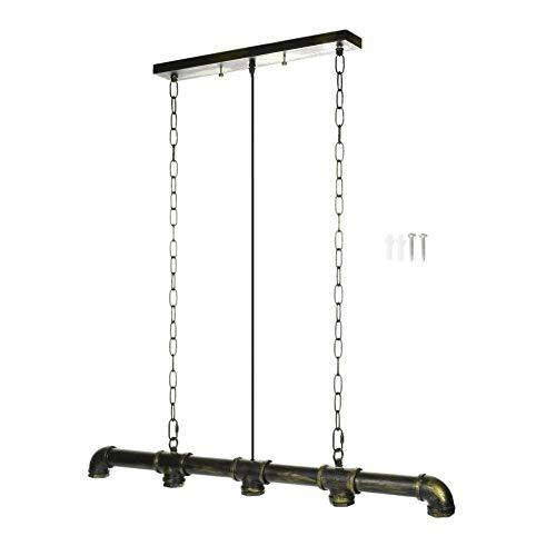 Bronze-feder-wand-beleuchtung (YUANYUAN520 5 Köpfe Industrie Klassiker Steampunk Bar Wasserpfeife Pendelleuchte Metalldecke Kronleuchter Licht Dekoration Vintage Licht (Lampshade Color : Bronze))
